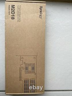 Synology M2d18 Storage Bay Adaptateur Fente D'expansion À 2 X M. 2 M. 2 Carte Pcie