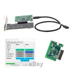 Thunderbolt3 Pci-e Ssd Pcba Nvme Ngff M-clé Convert Carte Adaptateur Câble De Type C