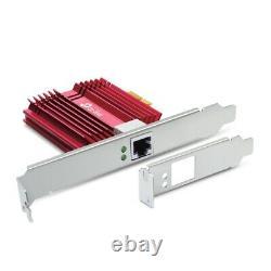 Tp-link Tx401 Gigabit 10g Pcie 3.0 Adaptateur De Carte Réseau De Fente Bracket À Faible Profil