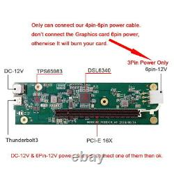 Type-c Thunderbolt 3 À Pci Express Pci-e 16x Desktop Graphics Card 40gbps Câble