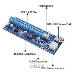 Us 6-24x Pci-e 6pin 1x To 16x Riser Board Gpu Extender Card Adaptateur Usb 3.0