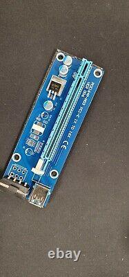 Usb 3.0 Pci-e Express 1x To16x Gpu Extender Riser Card Adaptateur Câble D'alimentation
