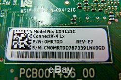 Véritable Mellanox Cx4121c Double Port 25gbe Sfp Adaptateur Pcie Dell Mrt0d